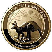 """100 Dollars - Elizabeth II (6th Portrait - """"Kangaroo"""" Gold Bullion Coinage) -  reverse"""
