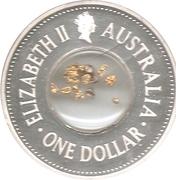 1 Dollar - Elizabeth II (150th Anniversary Eureka Stockade) -  obverse