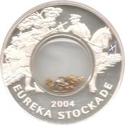 1 Dollar - Elizabeth II (150th Anniversary Eureka Stockade) -  reverse