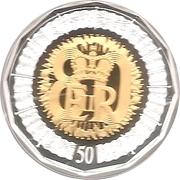 50 Cents - Elizabeth II (80th Birthday) -  reverse
