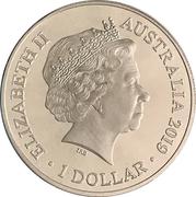 1 Dollar - Elizabeth II (4th Portrait - Bottlenose Dolphin) -  obverse