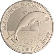 1 Dollar - Elizabeth II (Bottlenose Dolphin) -  reverse