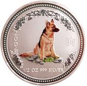 50 Cents - Elizabeth II (Year of the Dog; Colourised) -  reverse