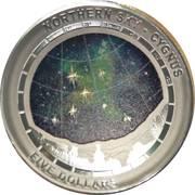 5 Dollars - Elizabeth II (Northern Sky - Cygnus) -  reverse