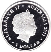 1 Dollar - Elizabeth II (4th portrait - Celebrate Australia - Great Barrier Reef) – obverse