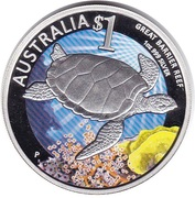 1 Dollar - Elizabeth II (4th portrait - Celebrate Australia - Great Barrier Reef) – reverse