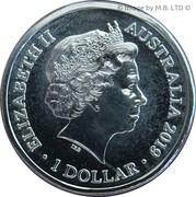 1 Dollar - Elizabeth II (4th Portrait - Australia's Bushrangers) -  obverse