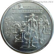 1 Dollar - Elizabeth II (4th Portrait - Australia's Bushrangers) -  reverse