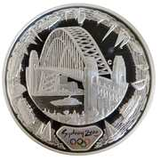 "5 Dollars - Elizabeth II (""Sydney 2000 Series"" Silver Bullion) -  reverse"
