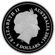 5 Dollars - Elizabeth II (Sir Donald Bradman) – obverse