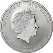 50 Cents - Elizabeth II (Lunar Year Series II Silver Bullion Coinage) -  obverse
