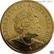 1 Dollar - Elizabeth II (Mr Squiggle 60 Years) – obverse