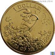 1 Dollar - Elizabeth II (6th Portrait - Mr Squiggle 60 Years) -  reverse