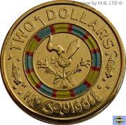 2 Dollars - Elizabeth II (4th Portrait - Mr Squiggle 60 Years, Mr Squiggle) -  reverse