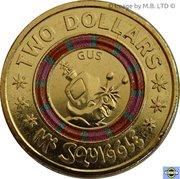 2 Dollar - Elizabeth II (4th Portrait - Mr Squiggle 60 Years, Gus) -  reverse