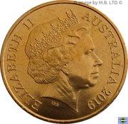1 Cent - Elizabeth II (4th Portrait - Mr Squiggle 60 Years) -  obverse