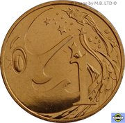 1 Cent - Elizabeth II (4th Portrait - Mr Squiggle 60 Years) -  reverse