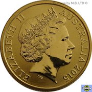 1 Dollar - Elizabeth II (4th Portrait - NRL - Moments That Matter - Colourised) -  obverse