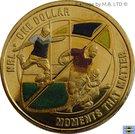 1 Dollar - Elizabeth II (4th Portrait - NRL - Moments That Matter - Colourised) – reverse