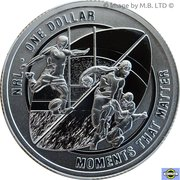 1 Dollar - Elizabeth II (4th Portrait - NRL - Moments That Matter - Silver Proof) -  reverse