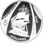 5 Dollars - Elizabeth II (Endeavour) – reverse