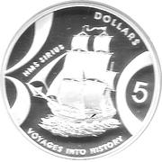 5 Dollars - Elizabeth II (Sirius) – reverse