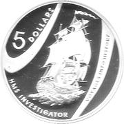 5 Dollars - Elizabeth II (Investigator) – reverse