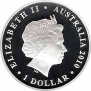 1 Dollar - Elizabeth II (4th Portrait - Australian Centenary of Flight) -  obverse