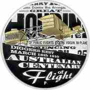 1 Dollar - Elizabeth II (Australian Centenary of Flight) -  reverse
