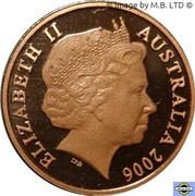 1 Cent - Elizabeth II (4th portrait) -  obverse