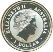 1 Dollar - Elizabeth II (4th Portrait - Australian Kookaburra - South Carolina Privy) -  obverse