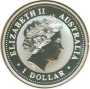 1 Dollar - Elizabeth II (Australian Kookaburra - Virginia) -  obverse