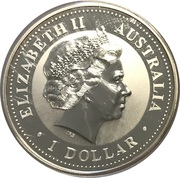 1 Dollar - Elizabeth II (Australian Kookaburra - January) -  obverse