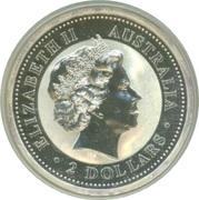 2 Dollars - Elizabeth II (Australian Kookaburra - Hammered Silver King Edward Penny) -  obverse