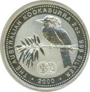 2 Dollars - Elizabeth II (4th Portrait - Australian Kookaburra - Hammered Silver King Edward Penny) -  reverse
