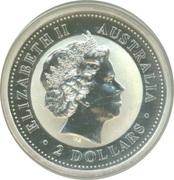 2 Dollars - Elizabeth II (Australian Kookaburra - Ferdinand Silver Denar) -  obverse