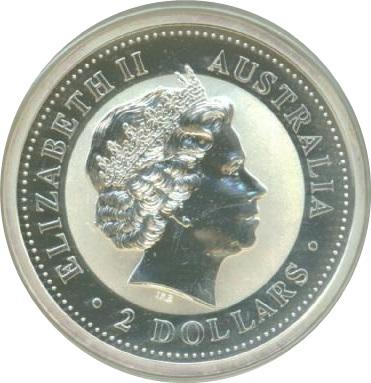 2 Dollars Elizabeth Ii Australian Kookaburra Ferdinand Silver Denar