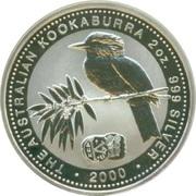 2 Dollars - Elizabeth II (4th Portrait - Australian Kookaburra - Byzantine Bronze coin) -  reverse