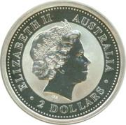 2 Dollars - Elizabeth II (Australian Kookaburra - Roman Silver Antoninianus) -  obverse