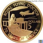 5 Dollars - Elizabeth II (4th Portrait - Royal Flying Doctor Service - Proof) – reverse