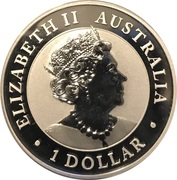 1 Dollar - Elizabeth II (Silver Bullion Coinage - Australian Wedge-Tailed Eagle) -  obverse
