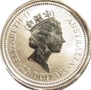 """25 Dollars - Elizabeth II (""""Koala"""" Platinum Bullion Coinage) -  obverse"""