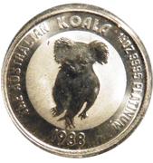 """25 Dollars - Elizabeth II (""""Koala"""" Platinum Bullion Coinage) -  reverse"""