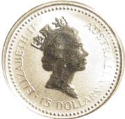 15 Dollars - Elizabeth II (3rd Portrait - Koala - Platinum Bullion Coin) -  obverse