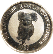 """15 Dollars - Elizabeth II (""""Koala"""" Platinum Bullion Coinage) -  reverse"""
