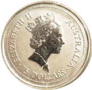 """15 Dollars - Elizabeth II (""""Koala"""" Platinum Bullion Coinage) -  obverse"""