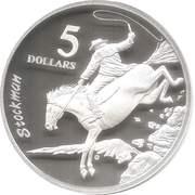 5 Dollars - Elizabeth II (Stockman) -  reverse