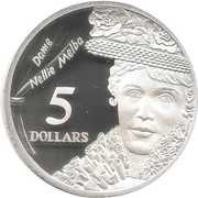 5 Dollars - Elizabeth II (Dame Nellie Melba) -  reverse