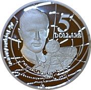 5 Dollars - Elizabeth II (3rd Portrait - Sir Douglas Mawson - Masterpieces in Silver) – reverse