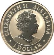 1 Dollar - Elizabeth II (6th Portrait - 1919 Kookaburra) -  obverse